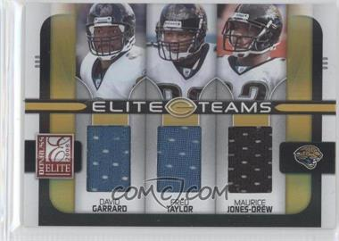 2008 Donruss Elite - Elite Teams - Jerseys [Memorabilia] #ET-13 - David Garrard, Fred Taylor, Maurice Jones-Drew /199