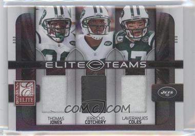 2008 Donruss Elite - Elite Teams - Jerseys Prime [Memorabilia] #ET-16 - Laveranues Coles, Jerricho Cotchery, Thomas Jones /50