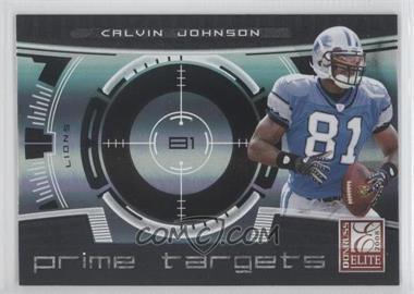 2008 Donruss Elite - Prime Targets - Black #PT-19 - Calvin Johnson /400