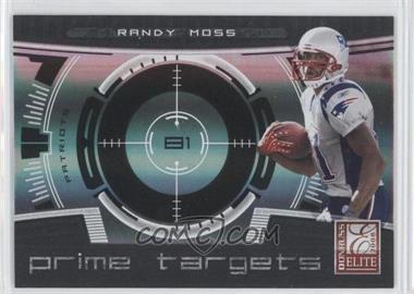 2008 Donruss Elite - Prime Targets - Black #PT-2 - Randy Moss /400