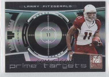 2008 Donruss Elite - Prime Targets - Black #PT-5 - Larry Fitzgerald /400