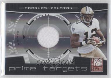 2008 Donruss Elite - Prime Targets - Jerseys [Memorabilia] #PT-16 - Marques Colston /199