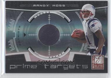 2008 Donruss Elite - Prime Targets - Jerseys [Memorabilia] #PT-2 - Randy Moss /199