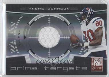 2008 Donruss Elite - Prime Targets - Jerseys [Memorabilia] #PT-22 - Andre Johnson /199