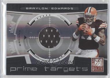 2008 Donruss Elite - Prime Targets - Jerseys [Memorabilia] #PT-6 - Braylon Edwards /199