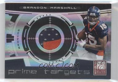 2008 Donruss Elite - Prime Targets - Jerseys Prime [Memorabilia] #PT-8 - Brandon Marshall /50