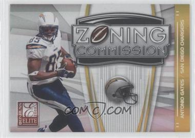 2008 Donruss Elite - Zoning Commission - Gold #ZC-40 - Antonio Gates /800