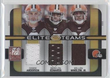 2008 Donruss Elite [???] #ET-11 - Derek Anderson, Braylon Edwards, Kellen Winslow /199
