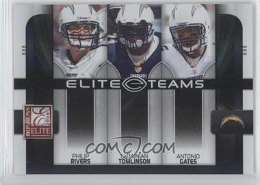2008 Donruss Elite [???] #ET-18 - Philip Rivers, LaDainian Tomlinson, Antonio Gates /800