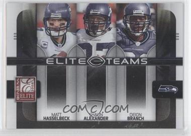 2008 Donruss Elite [???] #ET-19 - Matt Hasselbeck, Shaun Alexander, Deion Branch /800