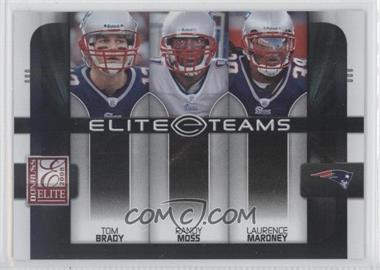 2008 Donruss Elite [???] #ET-2 - Tom Brady, Randy Moss, Laurence Maroney /800