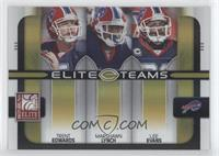 Trent Edwards, Marshawn Lynch, Lee Evans /200