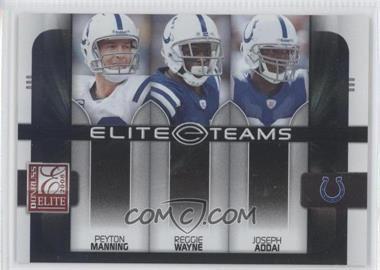 2008 Donruss Elite [???] #ET-8 - Peyton Manning, Reggie Wayne, Joseph Addai /800