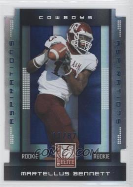 2008 Donruss Elite Aspirations Die-Cut #139 - Martellus Bennett /87