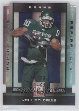 2008 Donruss Elite Aspirations Die-Cut #146 - Kellen Davis /20