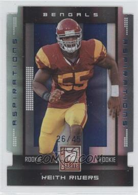 2008 Donruss Elite Aspirations Die-Cut #187 - Keith Rivers /45