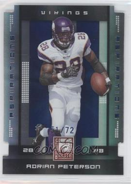 2008 Donruss Elite Aspirations Die-Cut #56 - Adrian Peterson /72