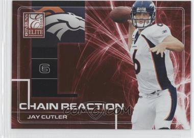 2008 Donruss Elite Chain Reaction Red #CR-14 - Jay Cutler /200