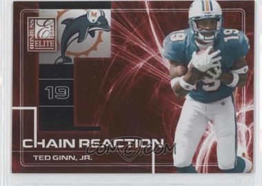 2008 Donruss Elite Chain Reaction Red #CR-22 - Ted Ginn Jr. /200