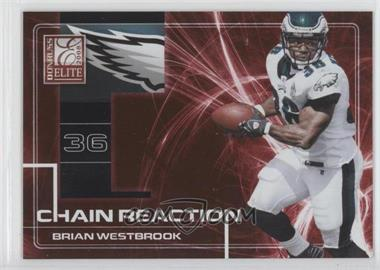 2008 Donruss Elite Chain Reaction Red #CR-3 - Brian Westbrook /200