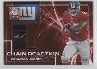 2008 Donruss Elite Chain Reaction Red #CR-6 - Brandon Jacobs /200