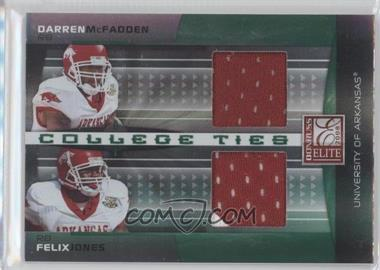 2008 Donruss Elite College Ties Combos Jerseys [Memorabilia] #CTC-4 - Darren McFadden, Felix Jones /100