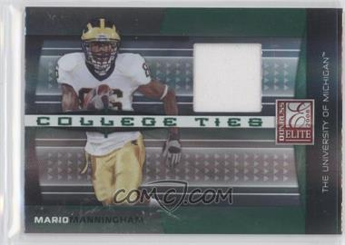 2008 Donruss Elite College Ties Jerseys [Memorabilia] #CT-19 - Mario Manningham /150