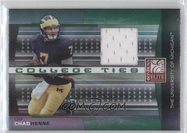 2008 Donruss Elite College Ties Jerseys [Memorabilia] #CT-23 - Chad Henne /150