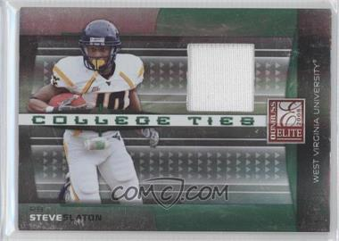 2008 Donruss Elite College Ties Jerseys [Memorabilia] #CT-24 - Steve Slaton /150