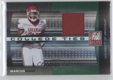 2008 Donruss Elite College Ties Jerseys [Memorabilia] #CT-5 - Marcus Monk /150