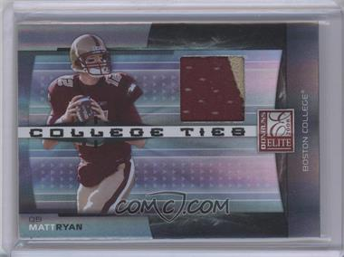 2008 Donruss Elite College Ties Jerseys Prime [Memorabilia] #CT-7 - Matt Ryan /50