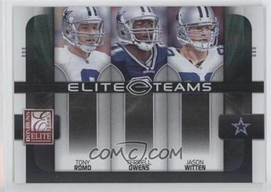 2008 Donruss Elite Elite Teams Black #ET-1 - Jason Witten, Terrell Owens, Tony Romo /800
