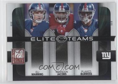 2008 Donruss Elite Elite Teams Black #ET-10 - Eli Manning, Plaxico Burress, Brandon Jacobs /800