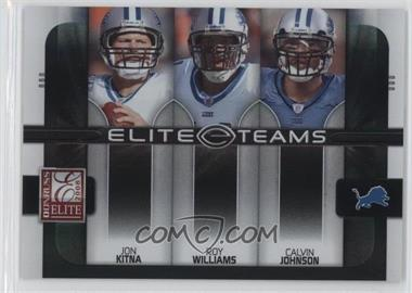 2008 Donruss Elite Elite Teams Black #ET-12 - Calvin Johnson, Jon Kitna, Roy Williams /800