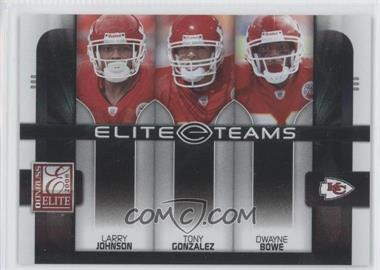 2008 Donruss Elite Elite Teams Black #ET-14 - Dwayne Bowe, Tony Gonzalez, Larry Johnson /800