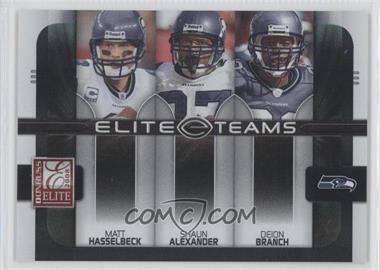 2008 Donruss Elite Elite Teams Black #ET-19 - Deion Branch, Matt Hasselbeck, Shaun Alexander /800