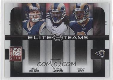 2008 Donruss Elite Elite Teams Black #ET-20 - Marc Bulger, Steven Jackson, Torry Holt /800