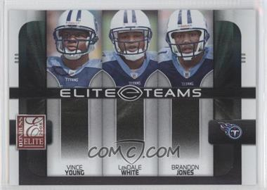 2008 Donruss Elite Elite Teams Black #ET-21 - Brandon Jones, LenDale White, Vince Young /800