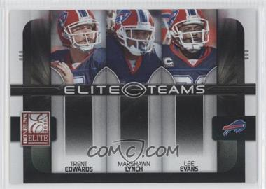 2008 Donruss Elite Elite Teams Black #ET-6 - Marshawn Lynch, Lee Evans, Trent Edwards /800