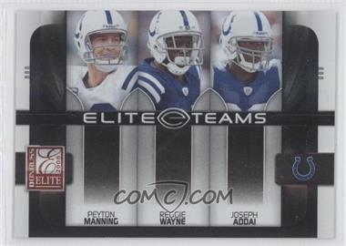 2008 Donruss Elite Elite Teams Black #ET-8 - Joseph Addai, Peyton Manning, Reggie Wayne /800