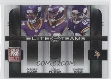 2008 Donruss Elite Elite Teams Black #ET-9 - Adrian Peterson, Tarvaris Jackson, Chester Taylor /800