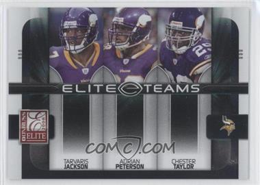 2008 Donruss Elite Elite Teams Black #ET-9 - Adrian Peterson, Tarvaris Jackson, Chester Taylor /800