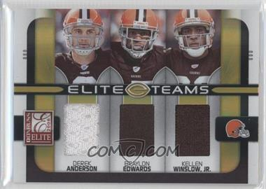 2008 Donruss Elite Elite Teams Jerseys [Memorabilia] #ET-11 - Braylon Edwards, Derek Anderson, Kellen Winslow Jr. /199
