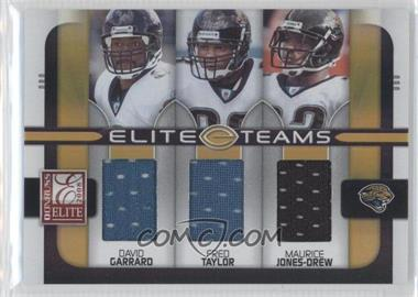 2008 Donruss Elite Elite Teams Jerseys [Memorabilia] #ET-13 - David Garrard, Fred Taylor, Maurice Jones-Drew /199
