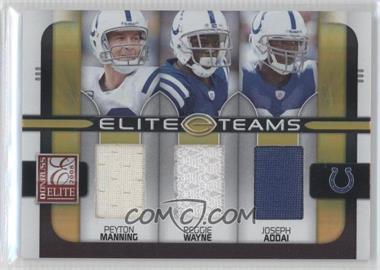 2008 Donruss Elite Elite Teams Jerseys [Memorabilia] #ET-8 - Joseph Addai, Reggie Wayne, Peyton Manning /199