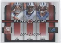 Calvin Johnson, Jon Kitna, Roy Williams /400