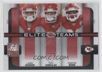 Dwayne Bowe, Larry Johnson, Tony Gonzalez /400