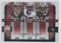 Drew Brees, Marques Colston, Reggie Bush /400
