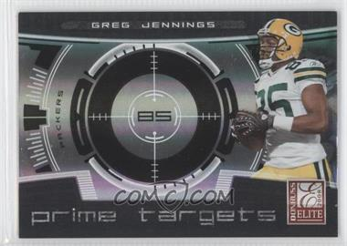2008 Donruss Elite Prime Targets Black #PT-13 - Greg Jennings /400