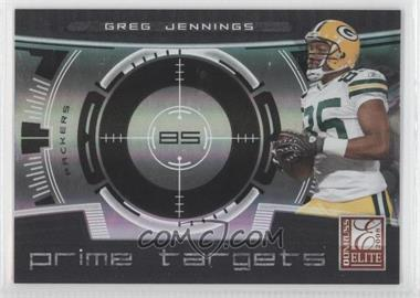 2008 Donruss Elite Prime Targets Black #PT-13 - Greg Jennings /400